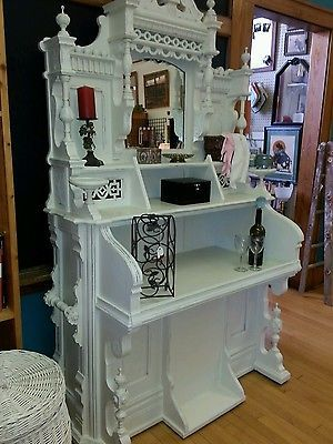 Beautiful Unique Shabby Chic Antique Winsor Pump Organ Vanity/Bookcase or Bar