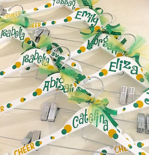 Personalized uniform hanger, customized hanger, hanger for uniforms, cheerleader, cheer, dance costume hanger, cheer camp, cheer gift