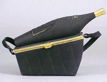 Anne-Marie Reclining Champagne Basket Handbag, Inscribed Cuv'ee, 1948