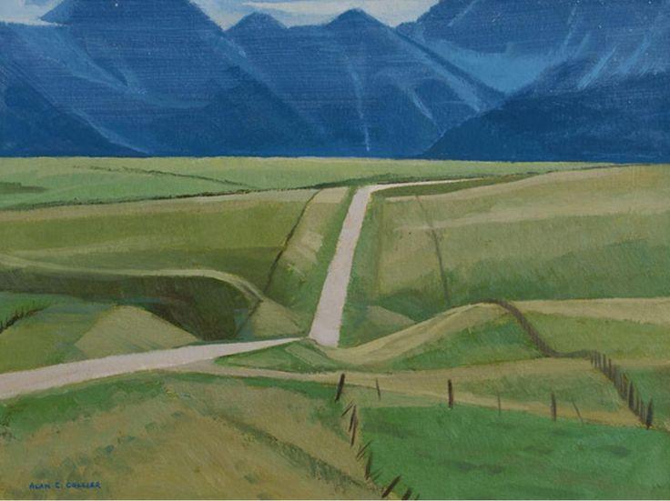 Alan Collier; Toward Waterton Lakes, AB