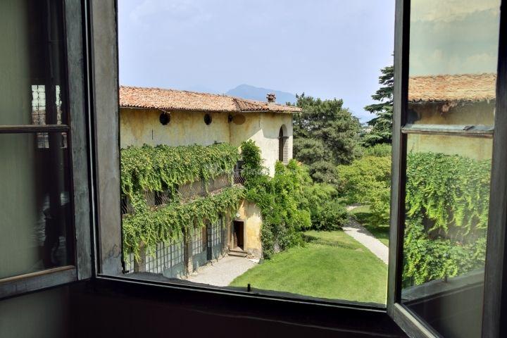 Il parco visto dalla galleria di Palazzo Monti della Corte