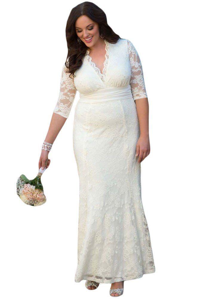 Robe de soiree grande taille blanche porte