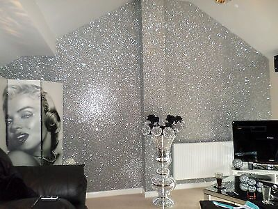 Details about *SAMPLE* Glitter Wallpaper Chunky Fabric