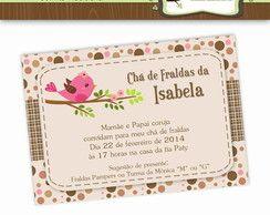 Convite Chá de Bebê Passarinhos