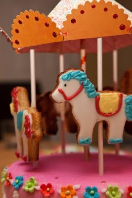 Horse Cookies For Carousel Cake