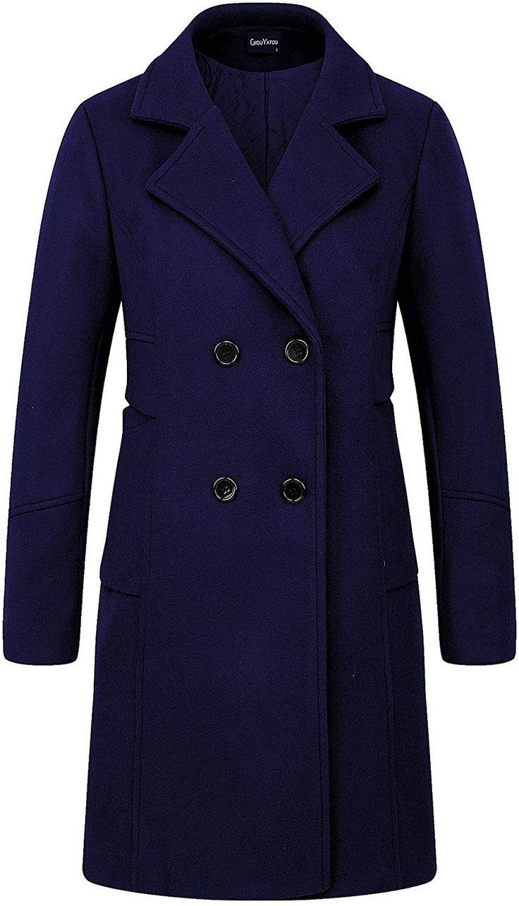 Dark Green Short Winter Coat Wool Blend Minimalist Coat Shoulder Pad 90s Classic Coat Notched Collar Button Up Coat Medium