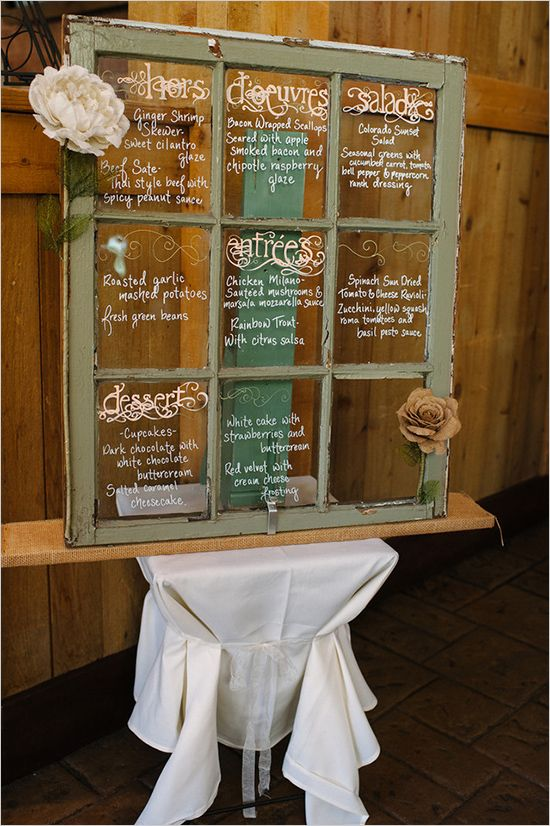 Window Pane Seating Chart Idea For Wedding Reception