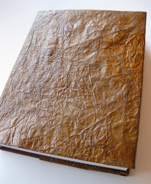 Faux Leatherbound book covers (made with paper bags)