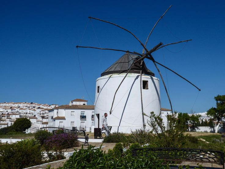 A well preserved windmill presides over Vejer de la Frontera