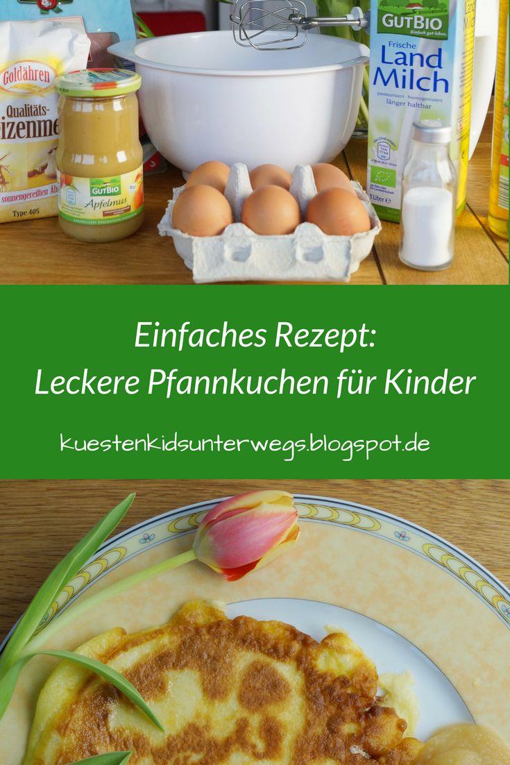 Rezept: Einfache Pfannkuchen für Kinder. Denn Kinder lieben Pfannkuchen! Ich zeige Euch ein Rezept für Eierpfannkuchen, die ganz einfach gelingen und die Ihr mit lecker Apfelmus oder aber Schinken genießen könnt!  #pfannkuchen #einfach #kinder #rezept #apfelmus #schinken #mithelfen #eier #zubereitung
