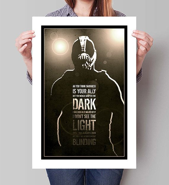 The DARK KNIGHT RISES Movie Poster Bane Batman Minimalist