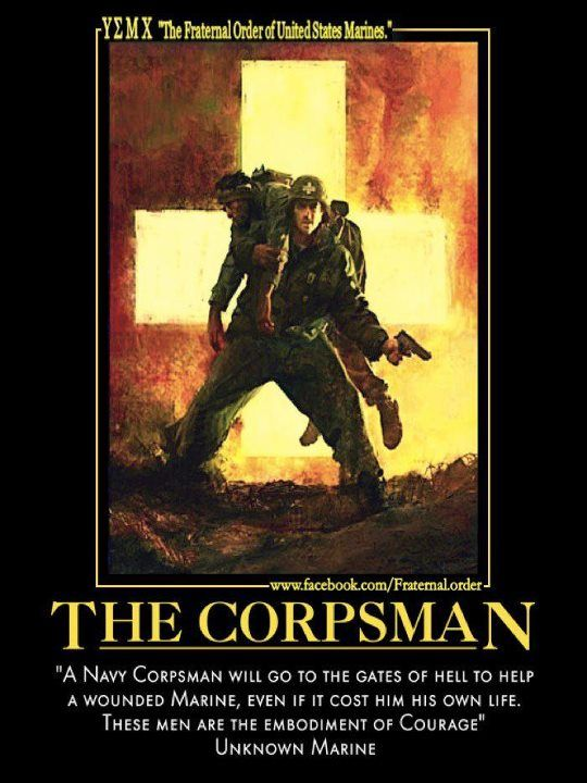God Bless the Navy Corpsman !