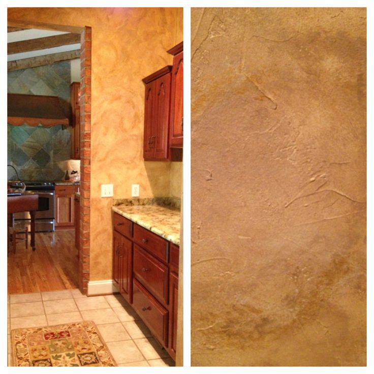 Bathroom Faux Paint Ideas: Tuscan Faux Finish With Gold Metallic On Plastered Walls In A Wine Bar/butler's Pantry. Http