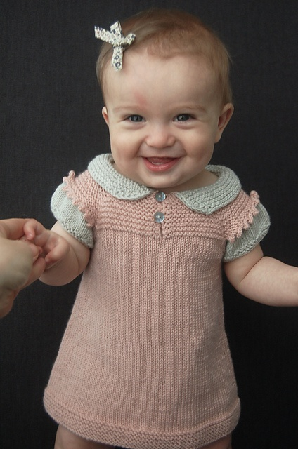 this dress is way too adorable not to knit!