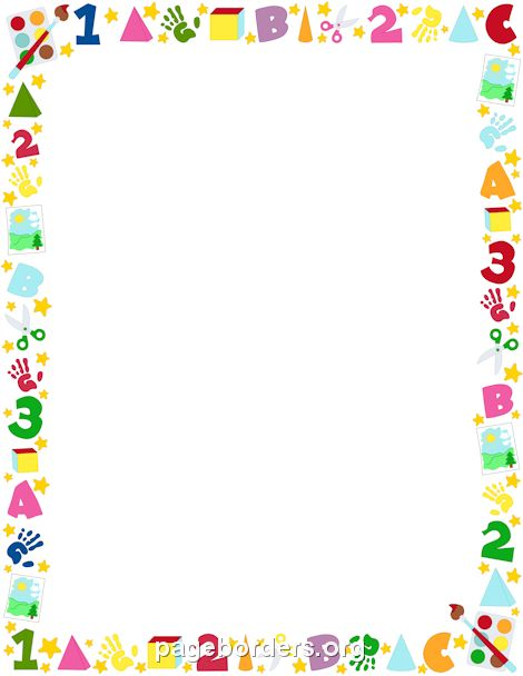 Printable preschool border. Free GIF, JPG, PDF, and PNG downloads at http://pageborders.org/download/preschool-border/