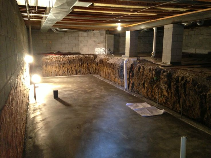 Crawl space dig out to make a basement columbus Crawl space flooring
