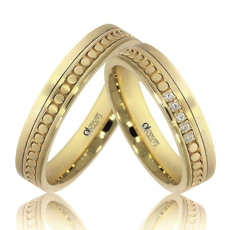 Verighete ATCOM Lux personalizate BARRIO aur galben