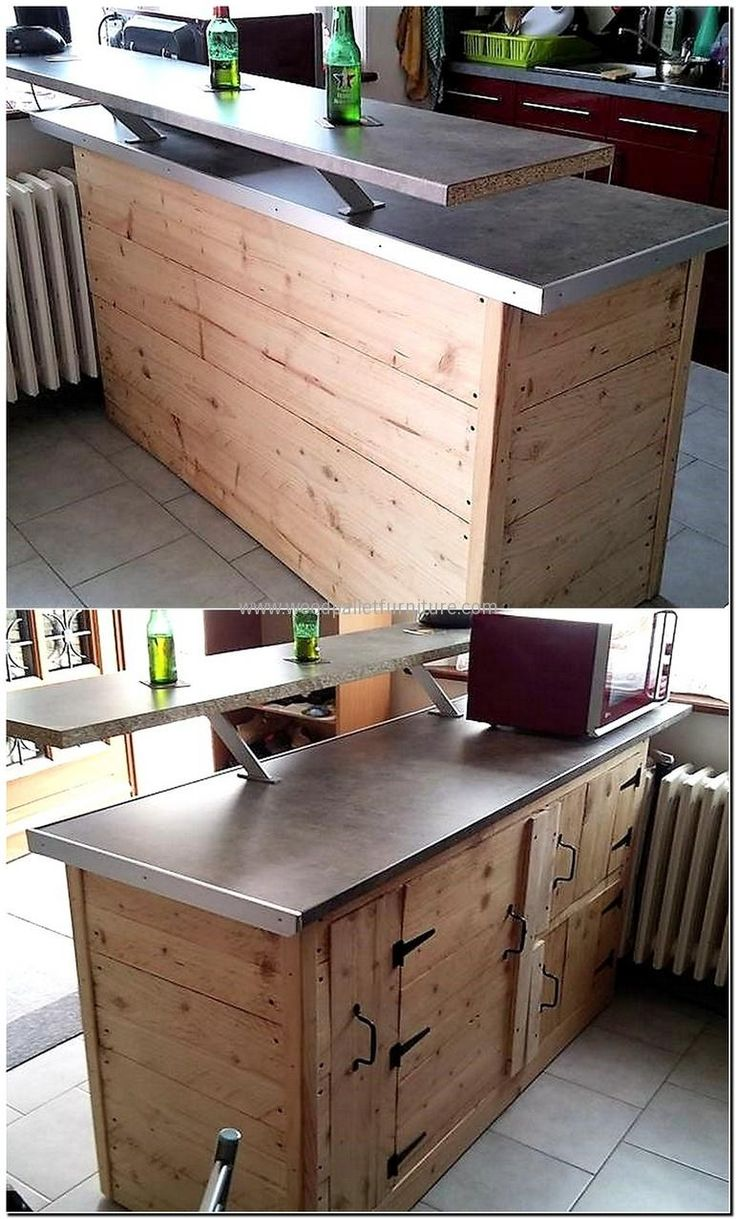 Kitchen island pallet wood - Best 20 Pallet Kitchen Island Ideas On Pinterest Pallet Island Man Cave Diy Bar And Farmhouse Outdoor Bar Furniture