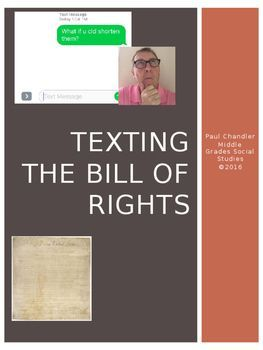 Everything is abbreviated these days. So, why not the Bill of Rights? In this digital age, the texting language has crept into responses to questions and in writing where it is not welcomed. So, why not give your young historians a challenge? They have 140 characters available in a text.
