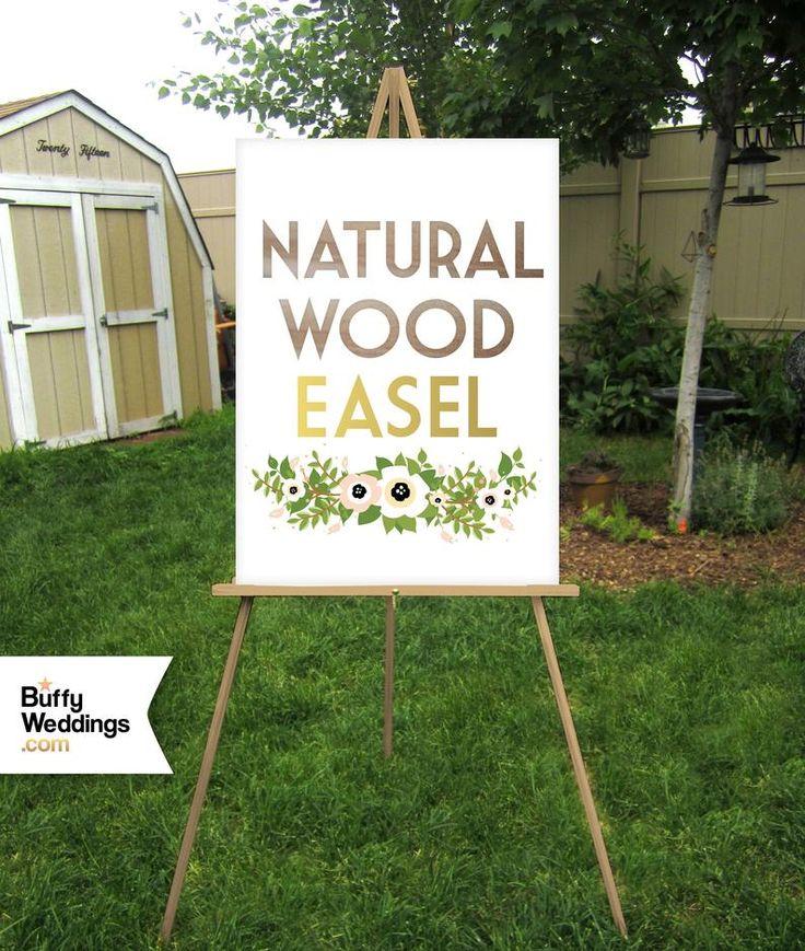 Wood Floor Easel Wedding Sign Stand Lightweight Display