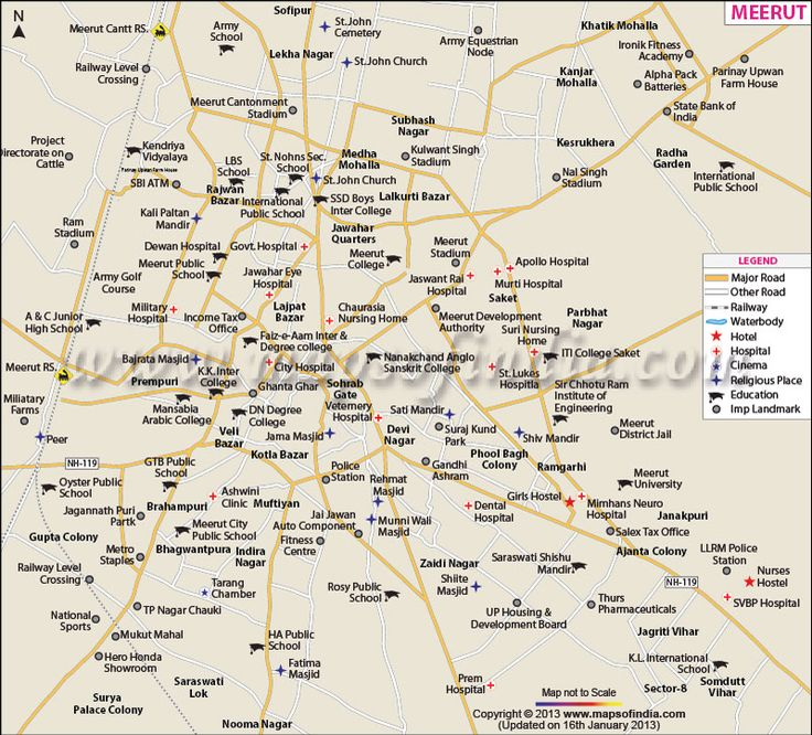 Details Meerut, City Maps, Cities Maps, Meerut Cities, Uttar Pradesh