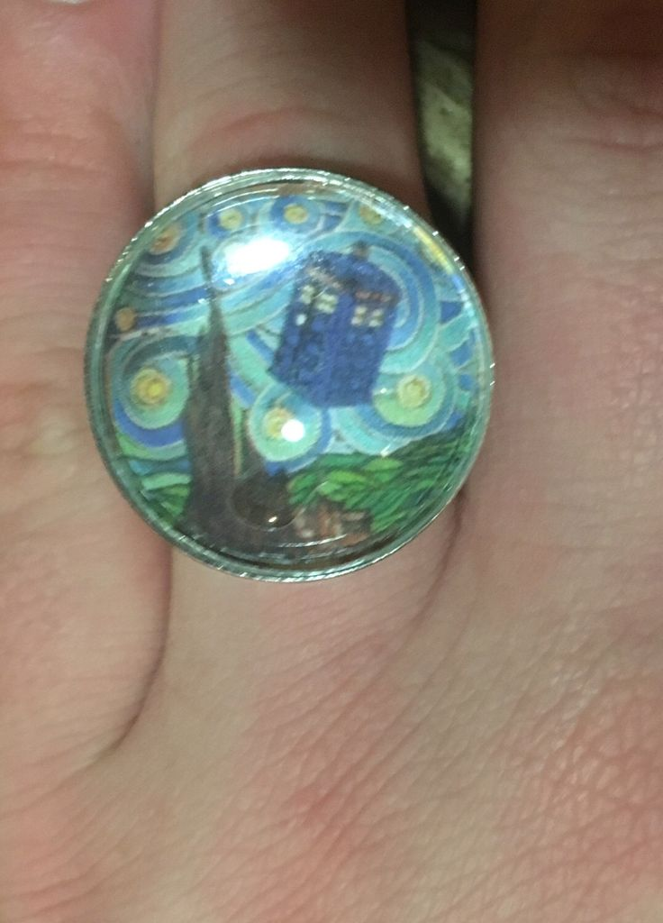 A personal favourite from my Etsy shop https://www.etsy.com/au/listing/481090372/doctor-who-art-adjustable-ring-unique