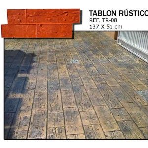 Molde tablon rustico 1370 510 hormigon impreso hormigon Hormigon impreso rustico