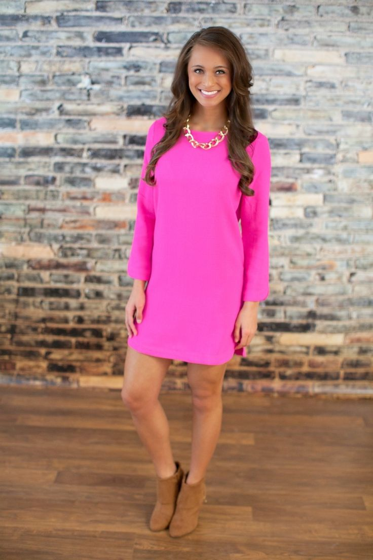 The Pink Lily Boutique - I Believe In Pink Shift Dress, $42.00 (http://thepinklilyboutique.com/i-believe-in-pink-shift-dress/)