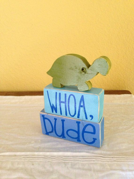 Turtle Wood Block Shelf Sitter by GiftsbyGaby on Etsy, $16.50