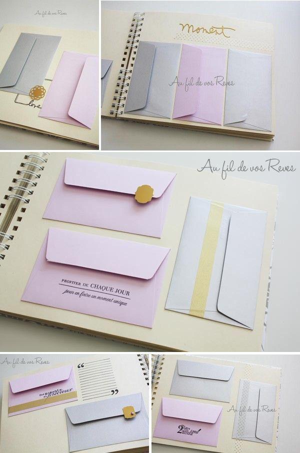 Idée Livre d'or avec enveloppes