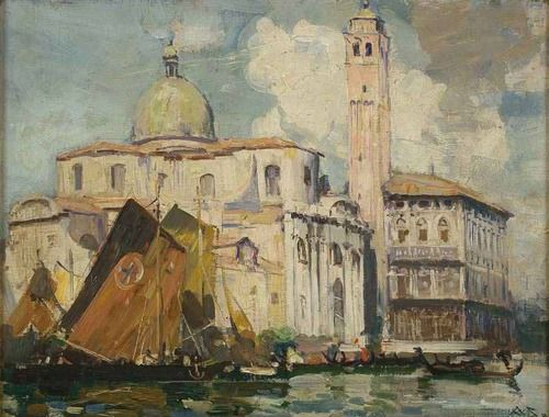 Arthur Streeton Grand Canal, Venice watercolor