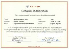 28 best certified images on pinterest authenticity certificate certificate of authenticity sample yadclub Images