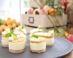 Cheesecake Mojito : une recette Le Meilleur Pâtissier Saison 5  no se siente mucho ni la menta ni el limon