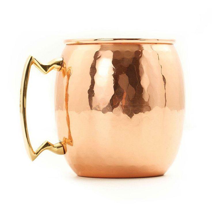 Old Dutch 24 oz. Hammered Copper Moscow Mule Mug - Set of 4 - OS438H