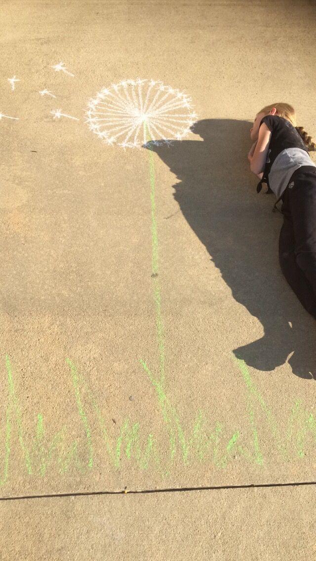 Sidewalk chalk fun photos