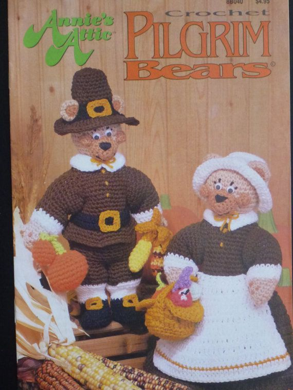 Annie's Attic Crochet Pilgrim Bears  915 by CarolsCreations77, $5.00