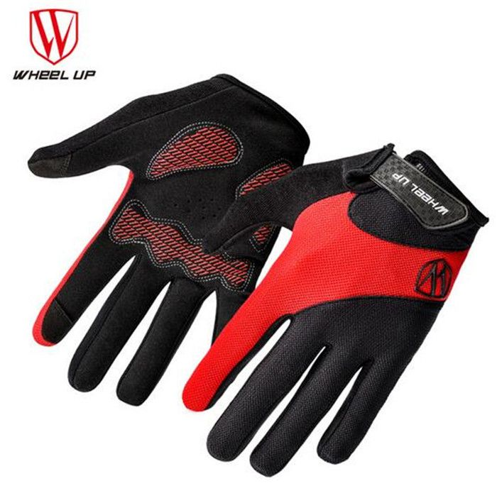 WHEEL UP Women's Men's Full Finger Breathable Torch Screen Anti-skid  Gloves MTB Road Bike Mittens Bike Equipment