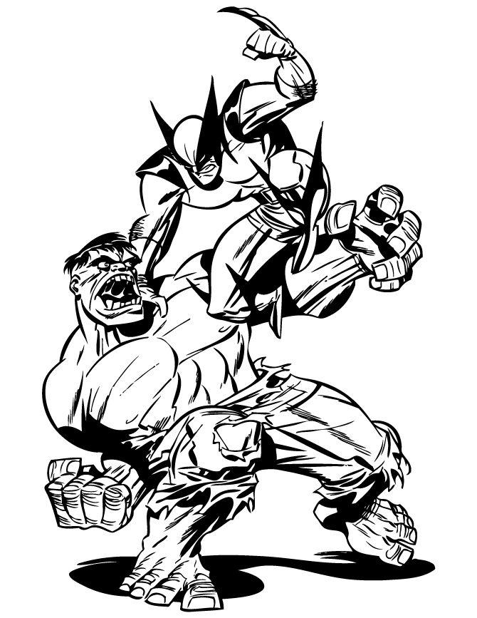 Alexhchung hulk versus wolverine by bruce timm
