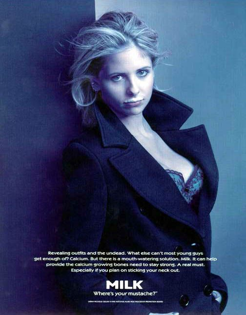 "Buffy (aka Sarah Michelle Gellar) | Community Post: Your Favorite ""Got Milk"" Ads Growing Up"