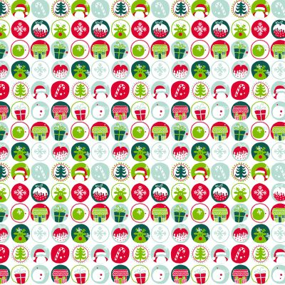 XMAS ICONS RED GREEN MINT