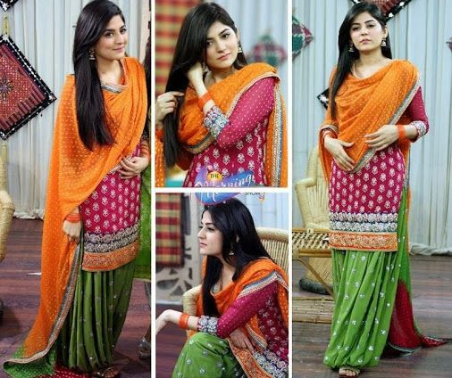 Henna Mehndi Shalwar Kameez Uk London : Beautiful sanam ali baloch in traditional pakistani dress