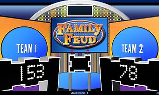 FREE macro-enabled Family Feud PowerPoint Template. Download this and more games at Rusnakcreative.com!