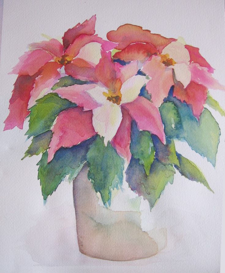 209 best watercolor christmas images on pinterest for Easy watercolor portrait