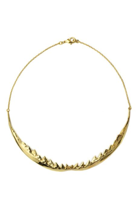 Shop Nophobia Shark Jaw Necklace by Tom Binns for Preorder on Moda Operandi