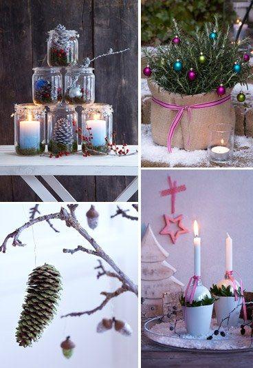 Schnelle Deko-Ideen für Weihnachten - Die letzten Tage sind mal wieder vergangen wie im Flug und aus eurer anfänglichen Weihnachtsdeko-Euphorie ist irgendwie dann doch nichts geworden? Schade! Denn mit ein paar hübschen Sachen...