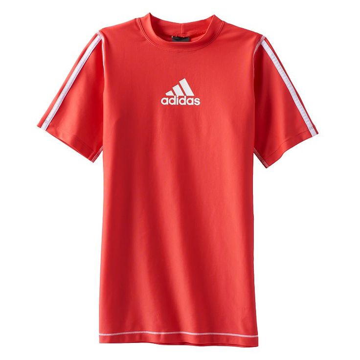 Boys 8-20 Adidas Rash Guard Top, Red