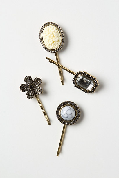 re-purpose old earrings, pendants, etc. into hair accessories