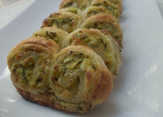 Ventagli+di+sfoglia+con+zucchine+e+philadelphia