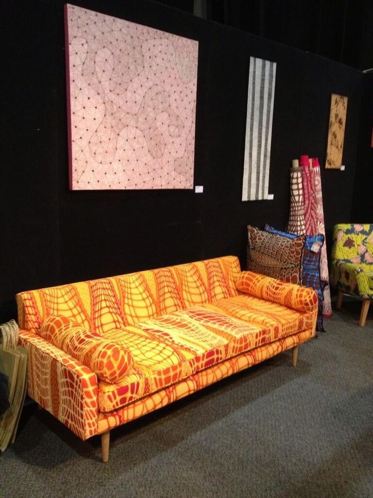Danish inspired couch covered by Croc Skin design by Aaron McTaggart of Merrepen Arts Centre