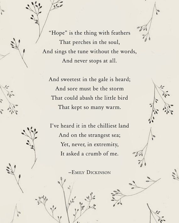 My absolute favorite poem of all time<3 Emily Dickinson.